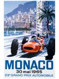 Monacon Grand Prix, 30. toukokuuta 1965 Giclée-vedos