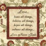 Palabras por las que vivir: Amor, en inglés Póster por Debbie DeWitt