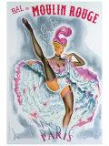 Bal du Moulin Rouge, French Cancan Reproduction procédé giclée par  Okley