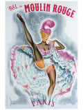 Bal du Moulin Rouge, French Cancan Giclee Print by Okley 