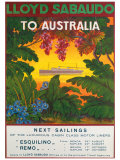 Lloyd Sabaudo to Australia Giclee Print