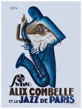 Alix Combelle, Jazz Paris Giclee Print by Paul Colin