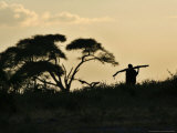 Masai Man, Amboseli Wildlife Reserve, Kenya Photographic Print by Vadim Ghirda