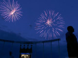Fireworks at Kauffman Stadium, Kansas City, Missouri Photographic Print by Charlie Riedel