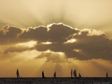 Sunset Sail, Honolulu, Hawaii Photographic Print by Marco Garcia