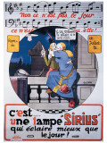 Lampe Sirius Giclee Print by Gus Bofa
