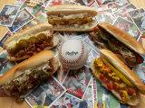 Baseball Hot Dogs Fotografisk trykk av Larry Crowe