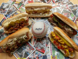 Baseball Hot Dogs Fotografie-Druck von Larry Crowe