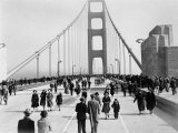 Golden Gate Opening, San Francisco, California, c.1937 Fotografisk tryk