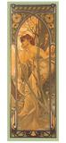 Alphonse Mucha - Reverie du Soir Digitálně vytištěná reprodukce
