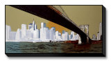Brooklyn Bridge Limited Edition on Canvas by Joan Farré