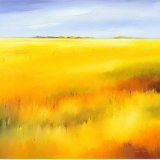 Yellow Fields II Print by Hans Paus