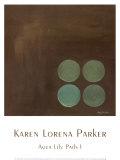 Aqua Lily Pads I Prints by Karen Lorena Parker