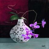 Jarrones con Flores Malva I Posters par  Cano
