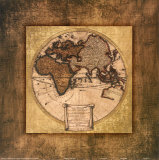Global Map I Poster by Krissi 