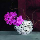 Jarrones con Flores Malva II Prints by  Cano