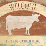 Friends Gather Here Poster by Krissi 