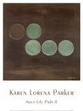 Aqua Lily Pads II Posters by Karen Lorena Parker