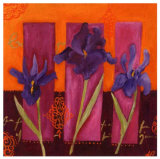 Three Irises Posters by Loetitia Pillault