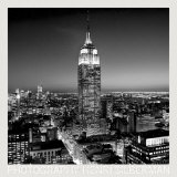 Empire State Building at Night Print by Henri Silberman
