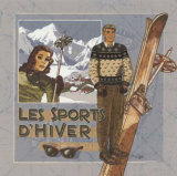 Les Sports d'Hiver Prints by Bruno Pozzo