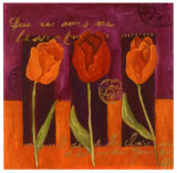 Three Tulips Poster by Loetitia Pillault