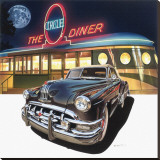 Pontiac Chieftain '50 at The Circle Diner Stretched Canvas Print by Graham Reynold