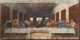 Leonardo da Vinci - Son Akşam Yemeği, c.1498 - Şasili Gerilmiş Tuvale Reprodüksiyon