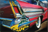 Buick Century '58 in Holland Stretched Canvas Print by Graham Reynold
