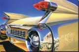 Cadillac Eldorado '59 in Athens Sträckt Canvastryck av Graham Reynold