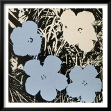 Flowers, c.1965 (Blue, Ivory) Prints by Andy Warhol