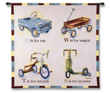 Car Wagon Tricycle Scooter Wall Tapestry by Catherine Richards