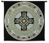 Celtic Mandola Wall Tapestry by Jen Delyth