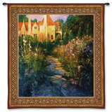 Garden Walk at Sunset Wall Tapestry by Philip Craig