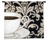Damask Coffee Wall Tapestry by Gosia Gajewska