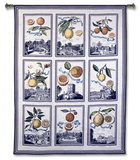 Fruit Collage Wall Tapestry by  Volkamer