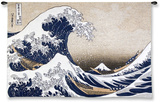 The Great Wave at Kanagawa (from 36 views of Mount Fuji), c.1829 Wall Tapestry by Katsushika Hokusai