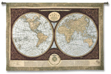 Map of the World Wall Tapestry by Mary Elizabeth