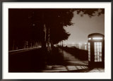 London Embankment At Night Prints