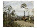 The Road of Louveciennes, c.1870 Giclee Print by Camille Pissarro