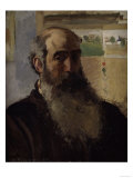 Self-Portrait, c.1873 Giclee Print by Camille Pissarro