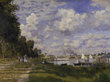 Le Bassin d'Argenteuil, c.1872 Art by Claude Monet