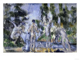 Bathers, c.1890 Giclee Print by Paul Cézanne