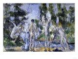 Bathers, c.1890 Poster by Paul Cézanne