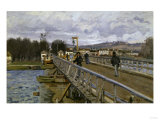 Footbridge in Argenteuil, c.1872 Posters by Alfred Sisley