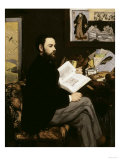 Emile Zola, c.1868 Prints by Édouard Manet