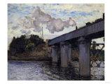 Railway Bridge at Argenteuil, c.1873 Print by Claude Monet