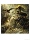 Ossian Receives Heroes of the Republic, c.1801 Gicle-tryk af Anne-Louis Girodet de Roussy-Trioson