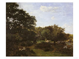 Edge of the Forest in Fountainbleau, c.1865 Posters by Frederic Bazille