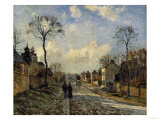 Road in Louveciennes, c.1872 Giclee Print by Camille Pissarro